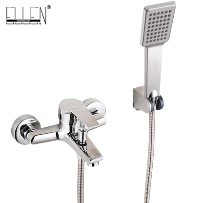 Wall Mounted Bathtub Faucet With Hand Shower Waterfall Bath Faucet