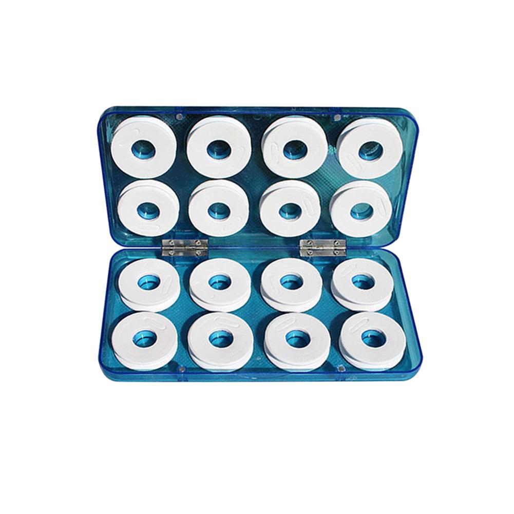 16 PCS/Set Foam Winding Board Fishing Line Shaft Portable Bobbin Spools Fishing Box Tackle Boxes ABS Drop-Resistant Shock-Proof
