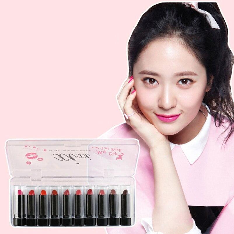 Small Sample Women Lipsick Nourishing Moisturizes 10 Pic/Set Lipstick Easy Wearing Beauty Makeup Matte Lipstick Set Friend Gift