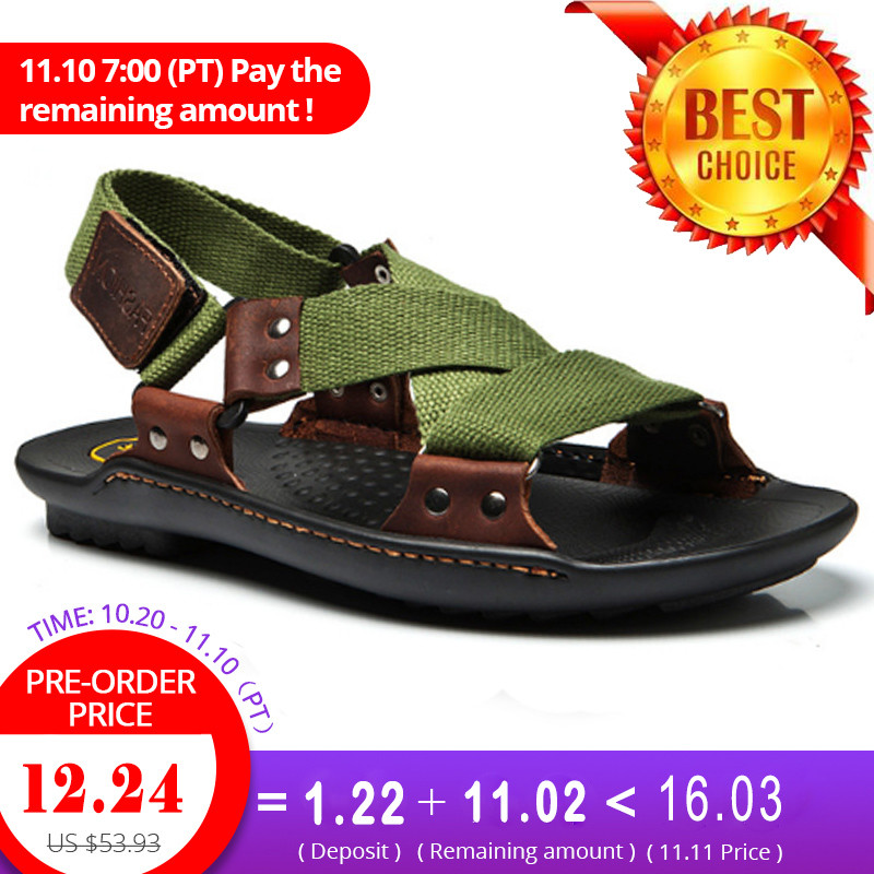 Leather Sandals Men Shoes Sandals Summer Personalized Braided Men Slippers Men Shoes Beach Shoes Large Size 38 46 plus size summer shoes men sandals leather shoes men casual summer sandals men summer shoes