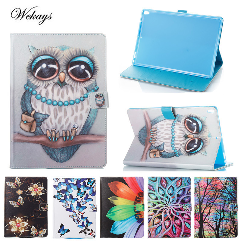 Wekays For Apple IPad Pro 10.5 inch Cute Cartoon Owl Leather Fundas Case For Coque IPad Pro 10.5 2017 Tablet Cover Case Pro 10.5