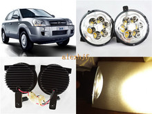 July King 18W 6LEDs  3000K LED Daytime Running Lights LED fog lamp Assembly Case for Hyundai Tuscon 2005~10, Over 1200LM/pc.