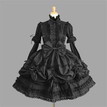 Female Princess Dress Halloween Victorian Gothic Lolita Cosplay Costume Lady Maid Layered Games