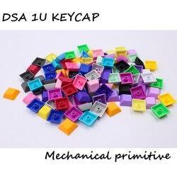MP 1U DSA Keys PBT Blank Keycap mieszany kolor przełącznik cherry mx keycaps na przewodowy usb mechaniczna klawiatura do gier