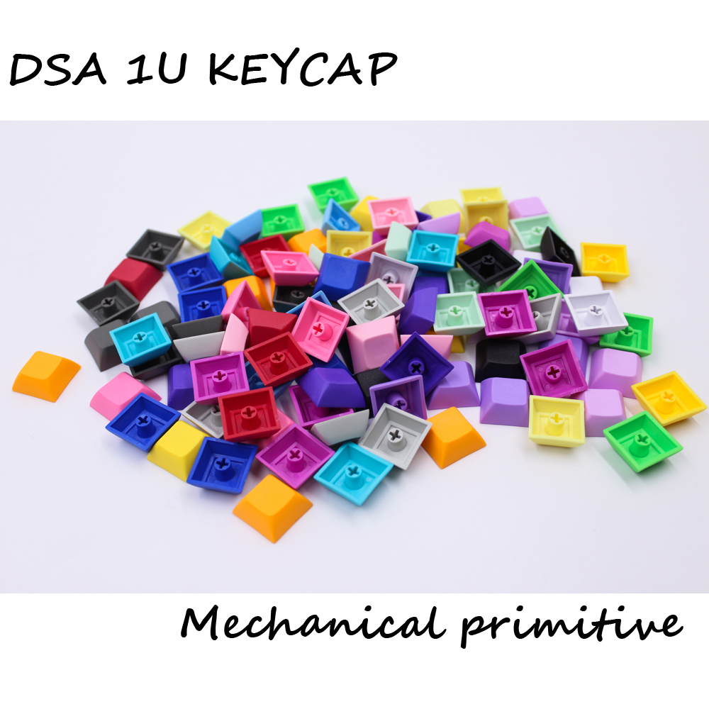 MP 1U DSA keys PBT Blank Keycap Mixded Color Cherry MX switch keycaps for Wired USB Mechanical Gaming keyboard mp 104 87 keys red gradient cherry mx switch pbt keycaps radium valture side printed keycap for mechanical gaming keyboard