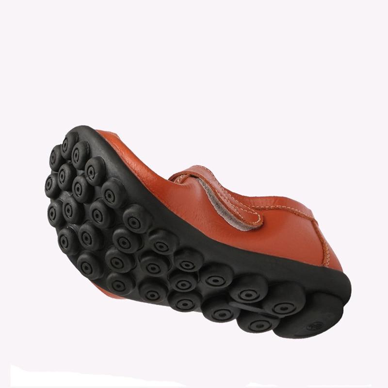 19d584d0 Nowe oryginalne skórzane kobiety jesień buty na co dzień panie mokasyny  moda mokasyny kobiet mieszkania stałe buty kobieta duży rozmiar 35 42 w Nowe  ...