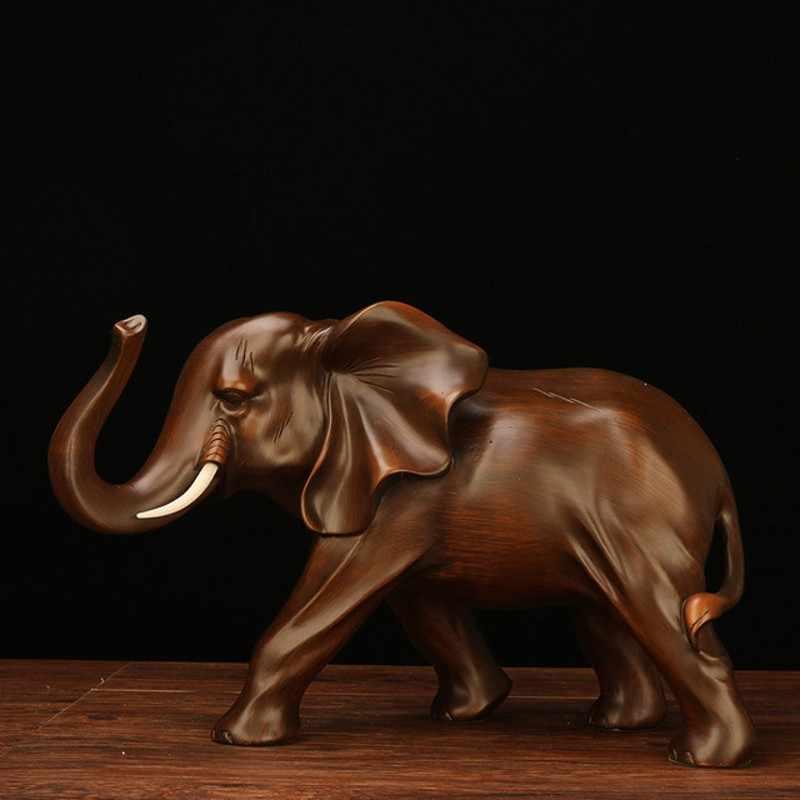 ใหม่เรซิ่นช้าง Handmade งานฝีมือตกแต่งห้องนั่งเล่นสำนักงานรูปปั้นสัตว์คุณภาพสูงเครื่องประดับของขวัญ