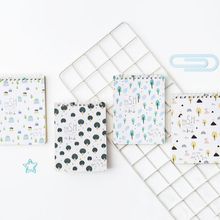 1pc/lot Kawaii Green Small Tree Hill Series Small Coil Book Pocket Diary Notebook Cute Stationery Student Supplies Girl Gift 1pcs lot small green tree series small coil diary notebook stationery sketchbook school offices supplies