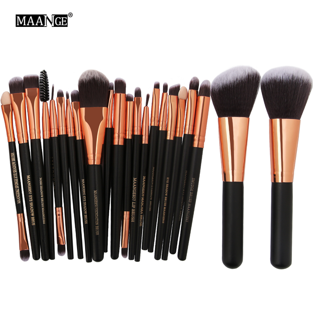 MAANGE Pro 20/22Pcs Makeup Brushes Cosmetic Foundation Powder Blush Eyeshadow Eyeliner Lip Beauty Make up Brush Tools Maquiagem new 32 pcs makeup brush set powder foundation eyeshadow eyeliner lip cosmetic brushes kit beauty tools fm88