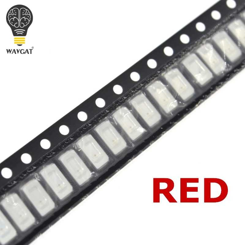 WAVGAT 100 pièces 5630/5730 SMD/SMT LED Rouge 5730 LED montage en saillie Rouge 2.0 ~ 2.6 V 620-625nm Ultra luminosité diode LED Puce 8-10LM