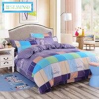 BEST.WENSD Superfine fiber dekbedovertrek' Fashion Quality Bedding Set full Queen king Size 4PCS Jacquard Duvet Cover bedspread