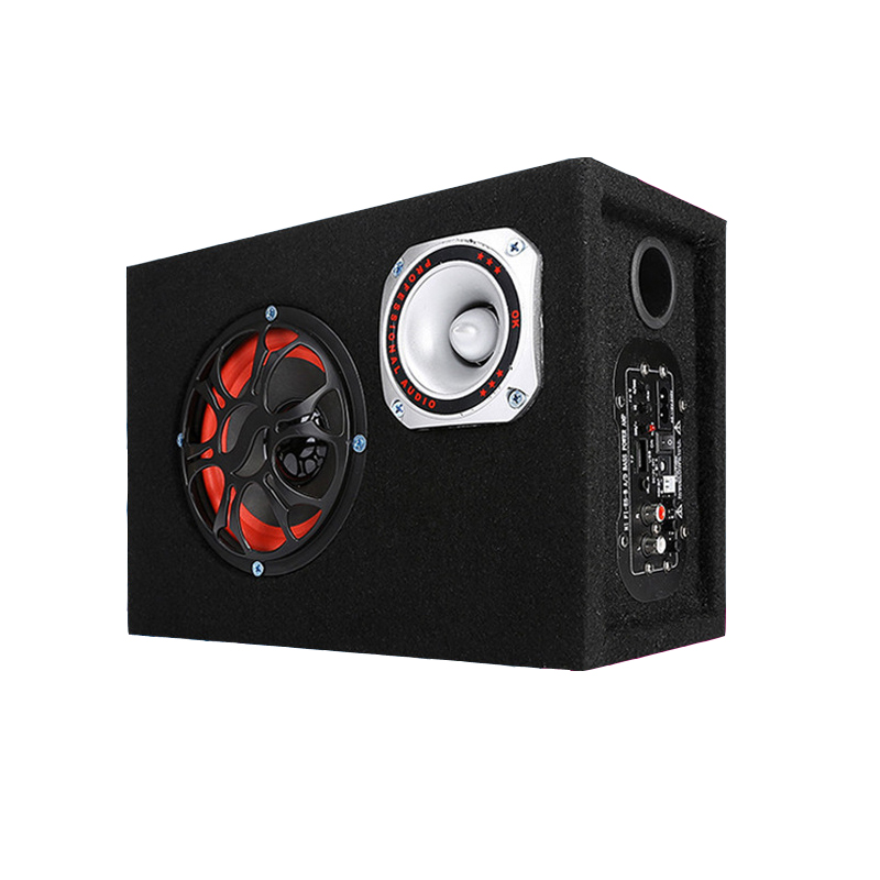 8 Inch Sub Box Vented Port Subwoofer 450W Peak Active Powered Car Subwoofer Sub Enclosure Box стоимость