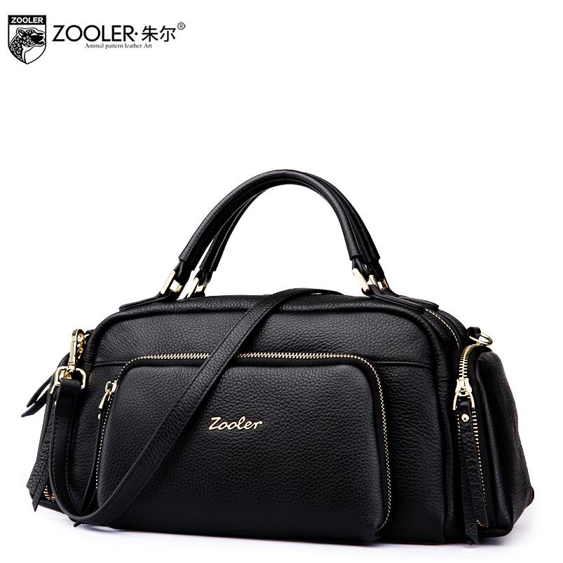 ZOOLER 2017 New Superior cowhide Genuine Leather fashion luxury handbags women bags designer tote women handbags bag