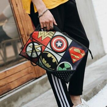 цены Tidog korean male hand bag rivet printing design handbag