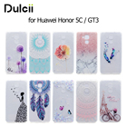 DULCII Coque for Huawei GT3/GR5 mini Cases Pattern Printing Soft TPU Back Capa Cover for Huawei Honor 5C / honor 7 lite/ GT3