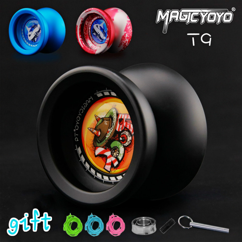 New Arrival MAGICYOYO T9 Professional yoyos Metal YO-YO Classic Toys Novice Advanced for Beginners magicyoyo n12 aluminum alloy yo yo toy army green silver