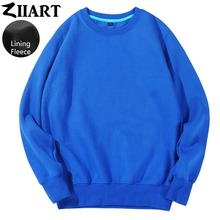 Girls Woman Fleece Sweatshirt Black Gray White Navy Blue Royal Blue Pink Red Yellow Solid Pure Color couple clothes ZIIART onlitop 1231447 р 30 33 blue yellow red