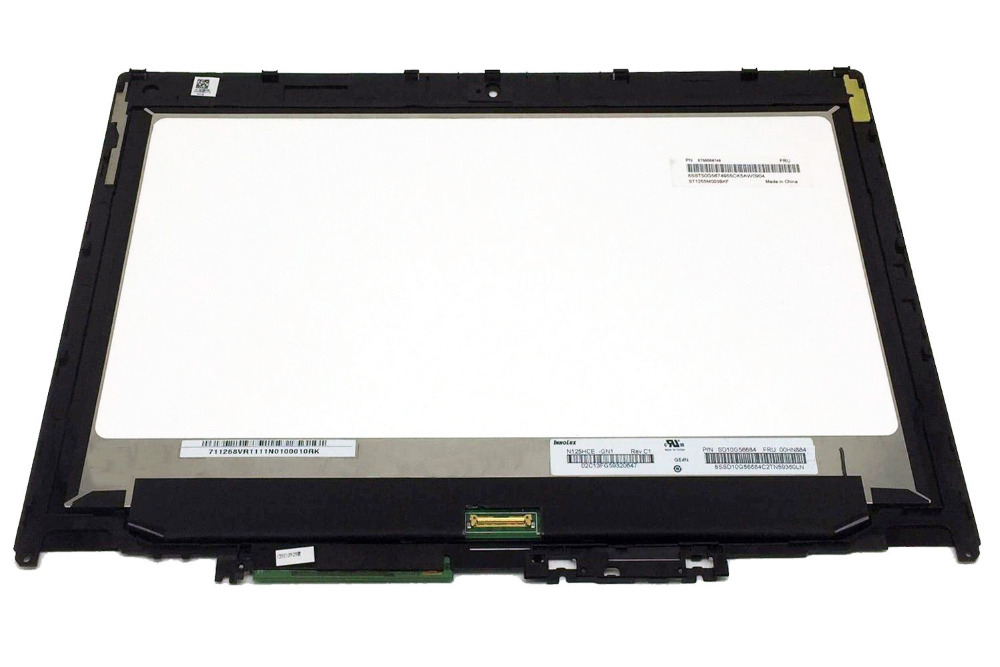 "LED Display for Lenovo ThinkPad Yoga 260 FRU 01ax9015 12.5"" HD 1366X768 LCD Touch Screen Assembly Digitizer With Bezel  Frame"