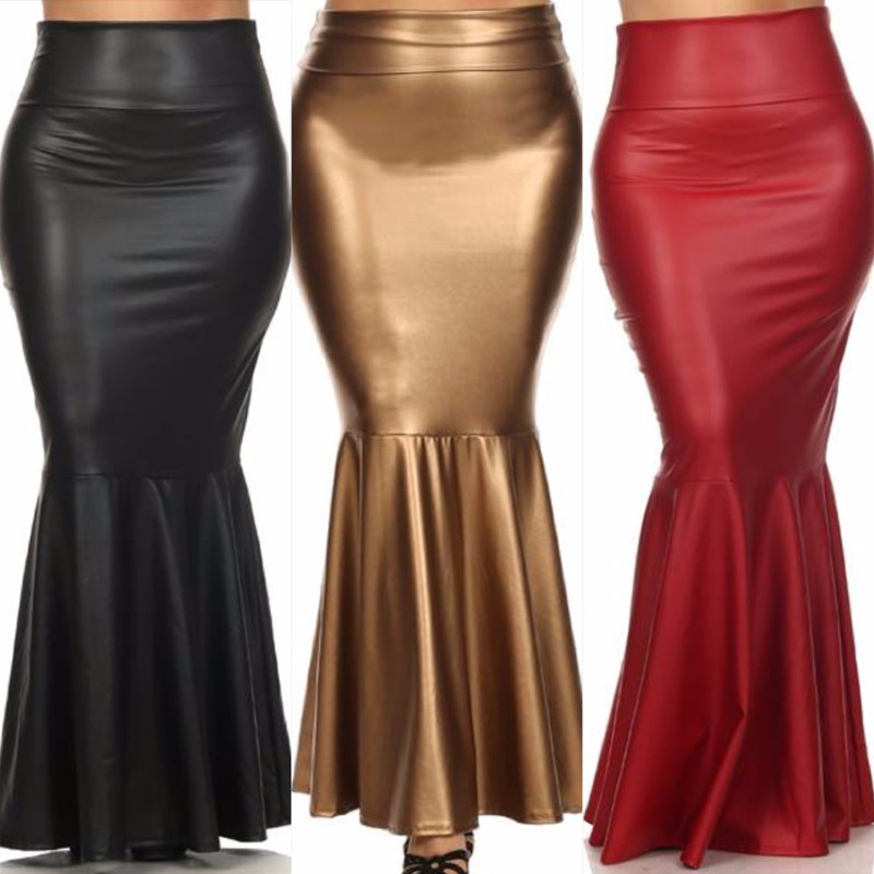 Popular Black Leather Skirt Plus Size-Buy Cheap Black Leather ...