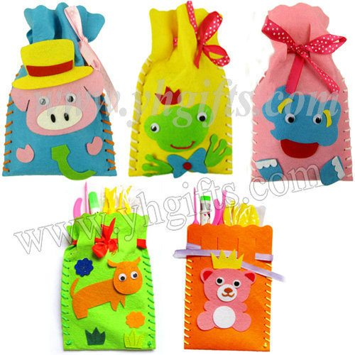 Aliexpress.com : Buy 15PCS/LOT,DIY felt drawstring bag craft kis ...
