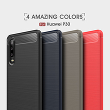 For Huawei P9 P10 P11 P20 lite P30 Pro Case Carbon Fiber TPU P Smart Plus 2019 Cover