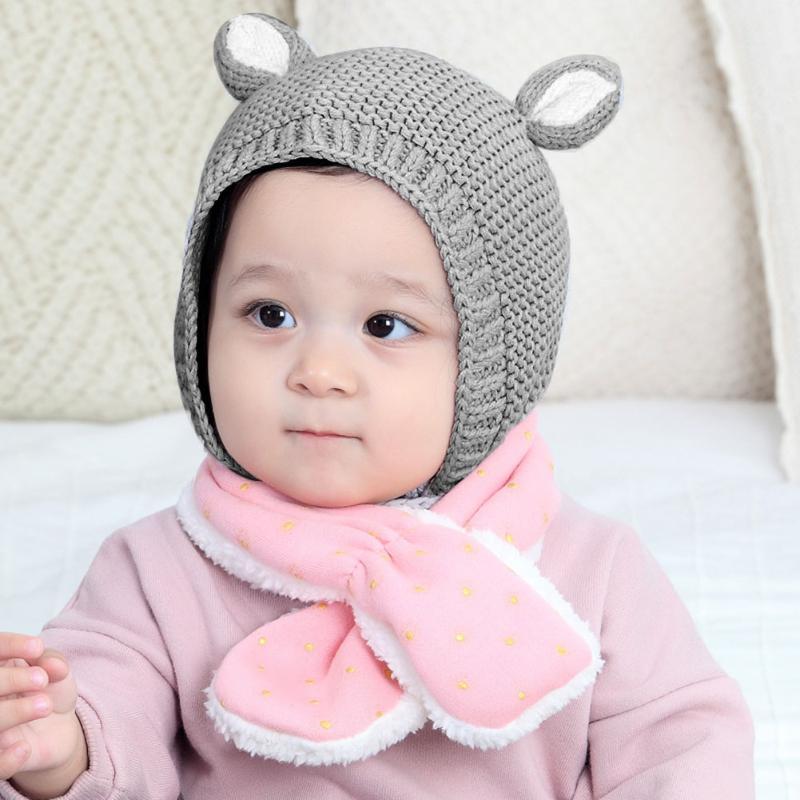 691e579cd96 1Pcs Baby Rabbit Ears Hat Winter Baby Bonnet Hat Knitted Infant Toddler Cap  Girl Boy Accessories ...