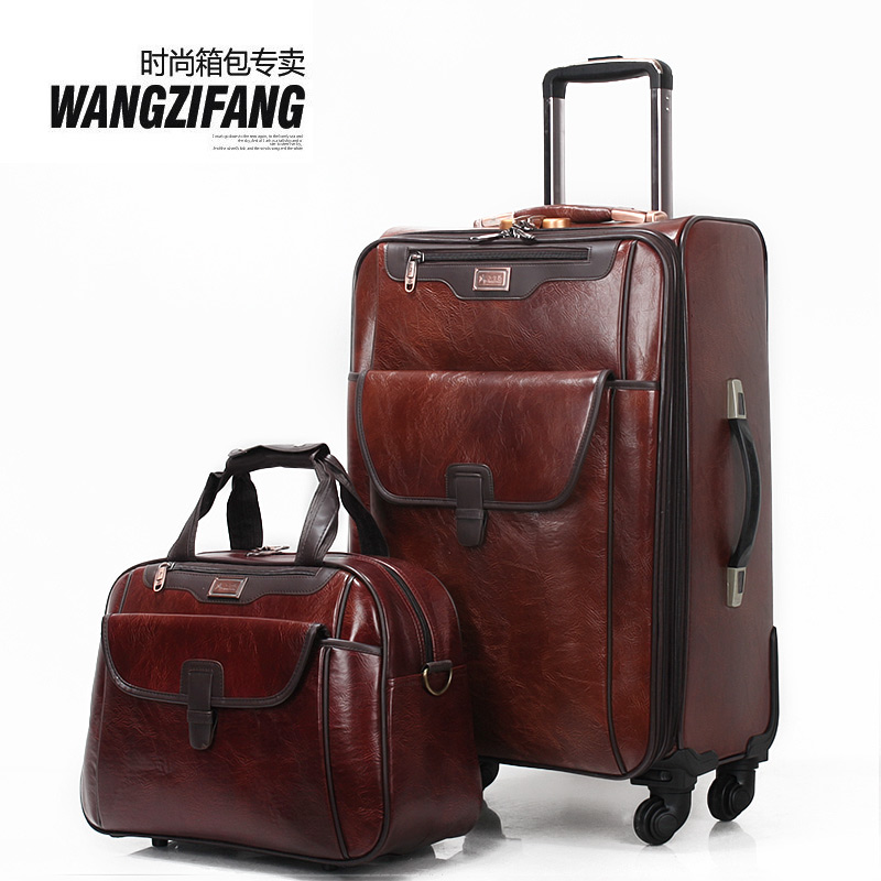 Leather luggage set online shopping-the world largest leather ...