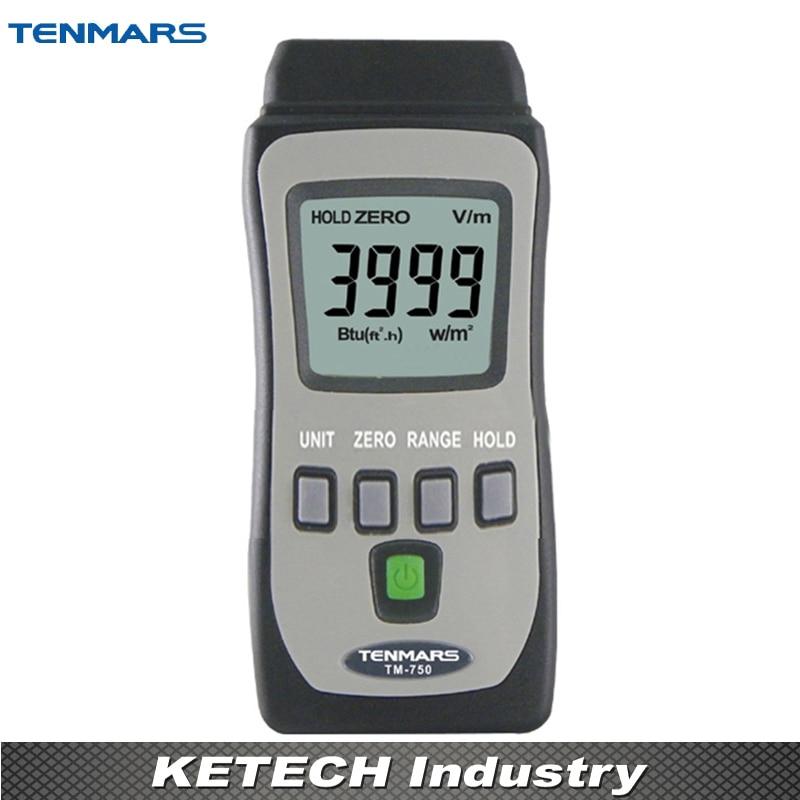 Solar Power Meter Tester TENMARS TM-750 tes 1333 solar power meter digital radiation detector solar cell energy tester