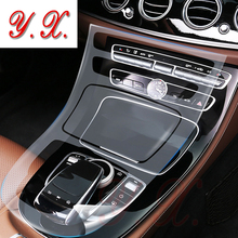 Для Mercedes BENZ W213 E200/260/300 ТПУ подкладке Стикеры прозрачная защитная пленка для Mercedes консоли Стикеры s И надписи