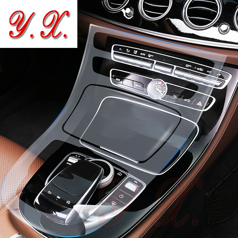 For <font><b>Mercedes</b></font> <font><b>BENZ</b></font> <font><b>W213</b></font> E200/260/300 TPU Interior Sticker Transparent Protective Film for <font><b>Mercedes</b></font> Console stickers and decals image