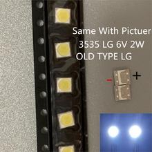 Pour LG SMD LED 50 pièces/lot 3535 6V blanc froid puce 2 2W pour TV/LCD rétro éclairage TV Application ancien Type original LG LED