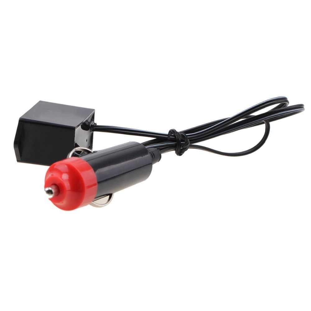 Автомобильный трансформатор инвертора для украшения своими руками 12 В Автомобильный интерьер светодиодный EL провод веревка трубка Неоновая световая линия атмосферная световая полоса