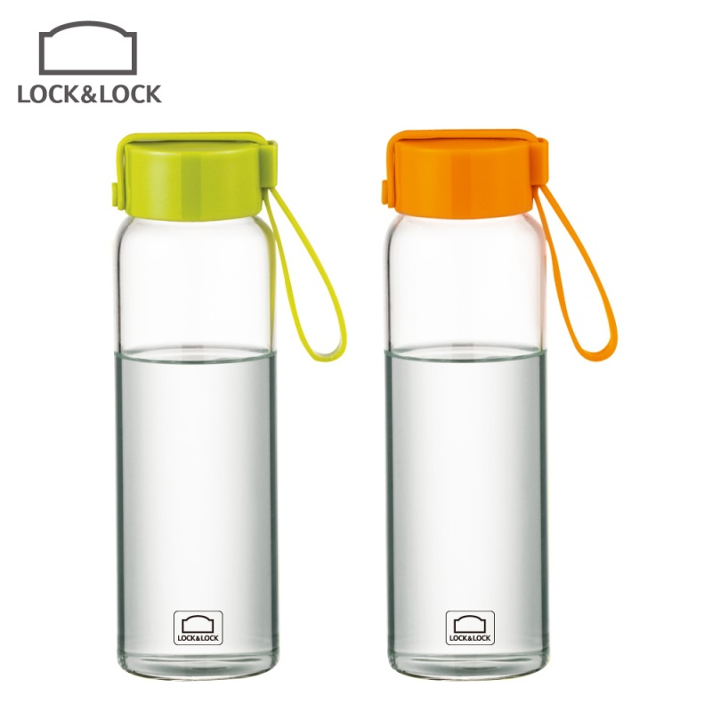 Lock genuine portable cup Pyrex glass sports cup water bottle ...