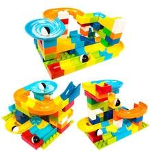 цена на 56pcs Duploe Maze Balls Track Big Building Blocks Compatible Educational Construction Bricks Toys For Children