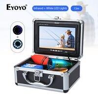 Eyoyo 7 15M LCD TFT Fishing Monitor IR White LED Lights Fish Finder Detector 1000TVL Underwater