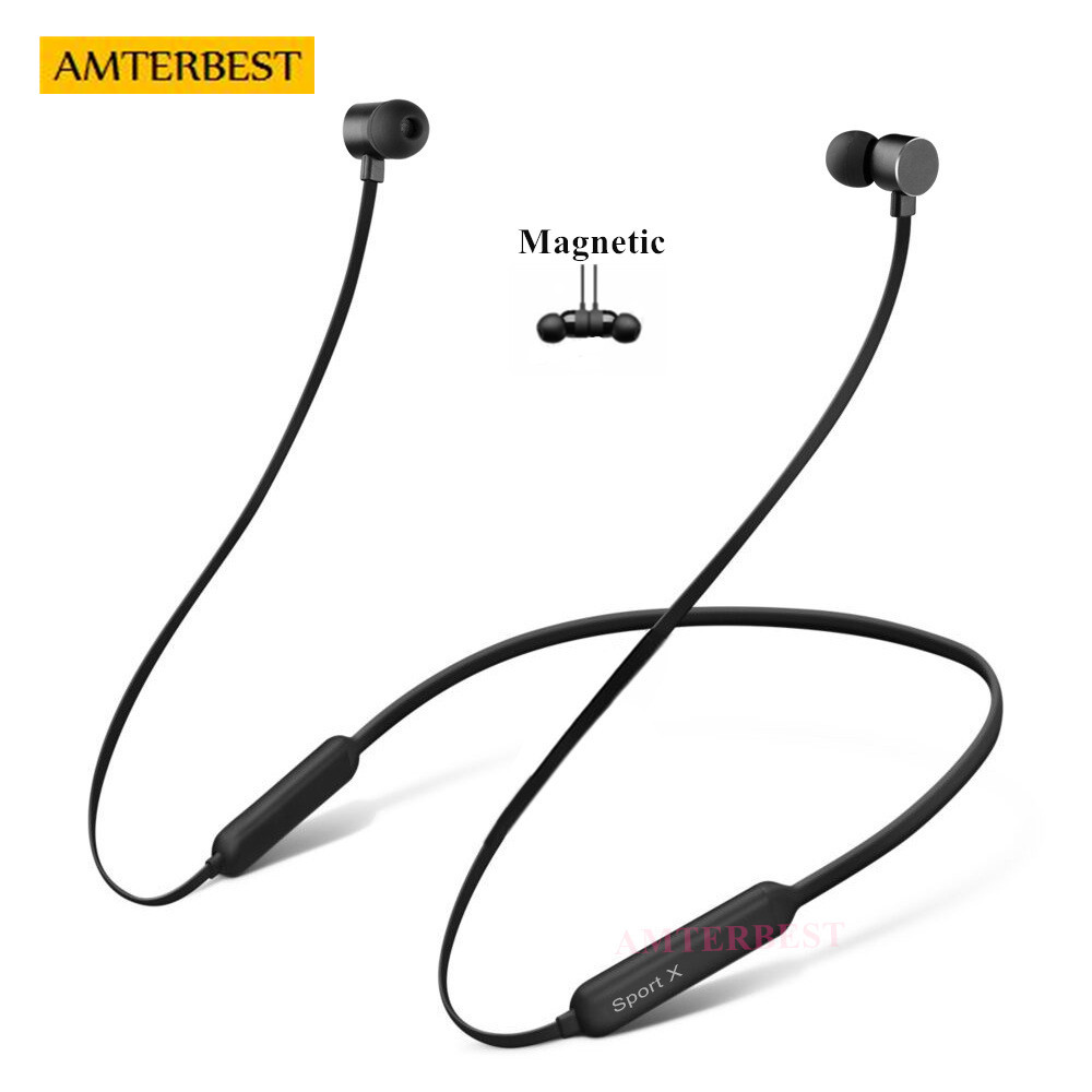 AMTERBEST Neckband 3D Stereo Bluetooth Earphone Sports Wireless Headphones Magnetic Bluetooth Headset for SAMSUNG iPhone Android пуловер quelle rick cardona by heine 3918