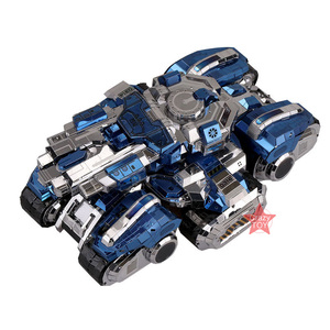 MU Star Craft 2 Terran Siege Tank, сделай сам, 3D металлические пазлы, сборные модели, строительные наборы, лазерная резка, пазлы, игрушки, YM-N030