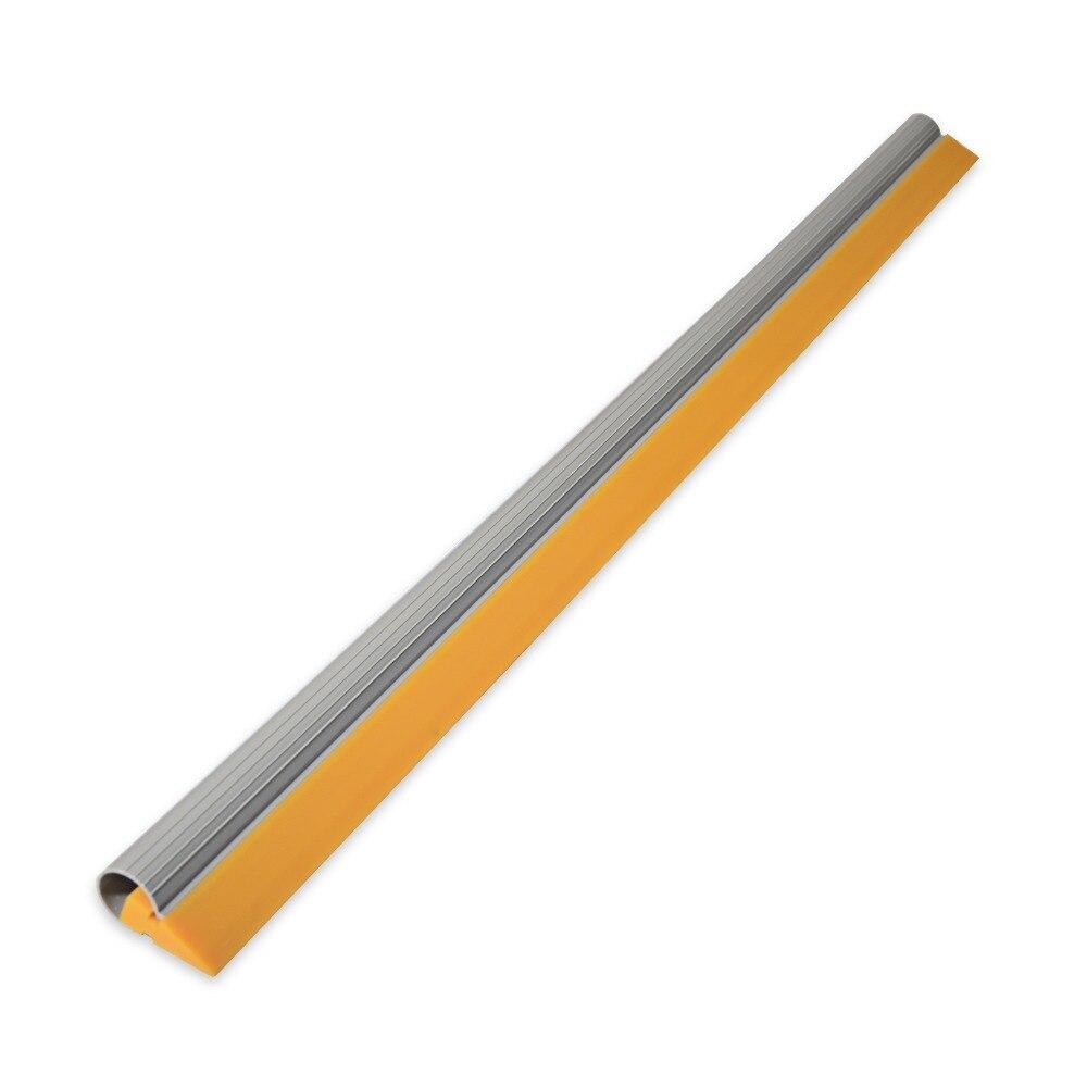 EHDIS 100 CM jaune caoutchouc raclette lame avec Tube fenêtre eau essuie-glace ménage nettoyage outils grattoir housse de voiture en vinyle outils