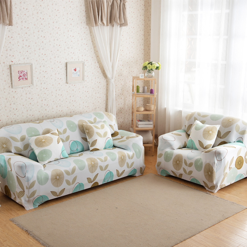 New Slipcover Stretch Sofa Cover Sofa With Loveseat Chair: Elastic Sofa Cover Slipcover Armchairs Floral Sectional
