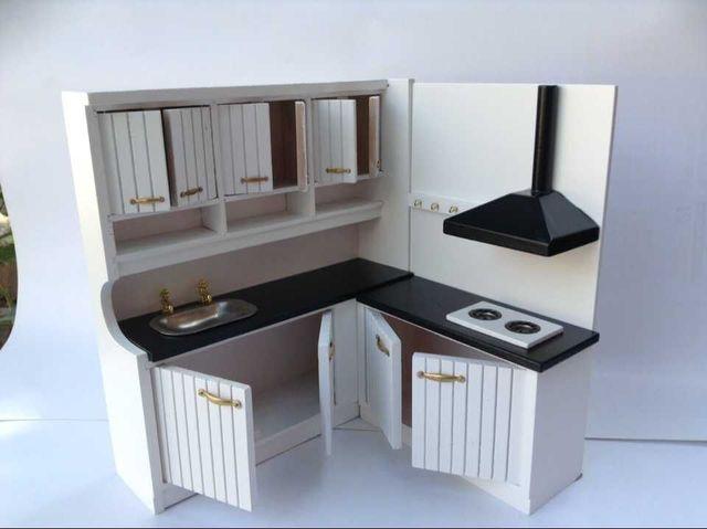 1 12 New Design Cute Dollhouse Miniature Integral Kitchen Furniture