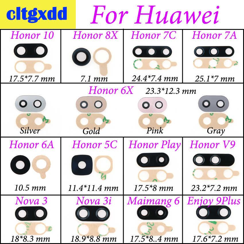 Cltgxdd リアバックカメラガラスレンズステッカーの接着剤で Huawei 社の名誉 10 8X 7A 7C 6X 5C V9 再生 9 プラスノヴァ 3 3i Maimang 6