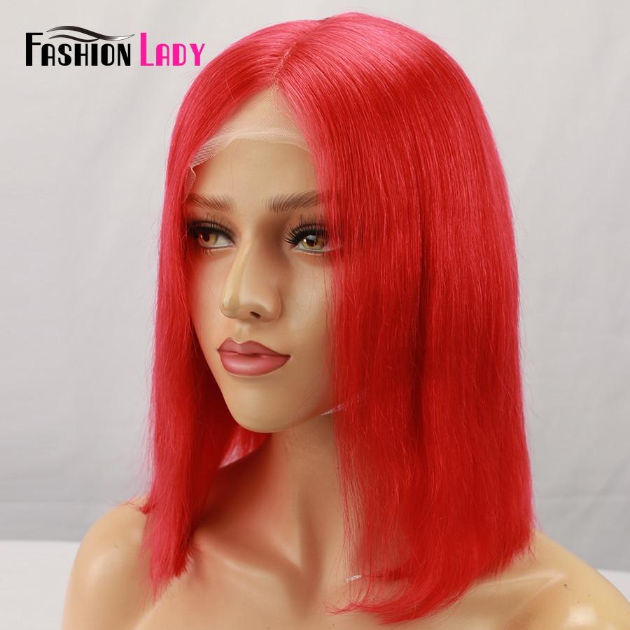 Парики из натуральных волос на кружевной основе, цвет красный, парик из натуральных волос 13x6 - 4