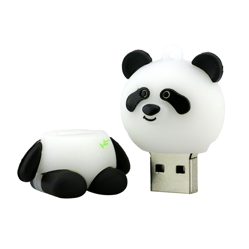 Jaster Cartoon Animal Bear Model Usb Flash Drive Usb 2.0 Cute Keychain Memory Stick Pendrive 4gb 8gb 16gb 32gb Free Shipping Durable Service External Storage
