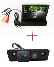 Color Cámara de Visión Trasera para SKODA FABIA ROOMSTER OCTAVIA TOUR, con 4.3 Pulgadas LCD plegable Del Monitor