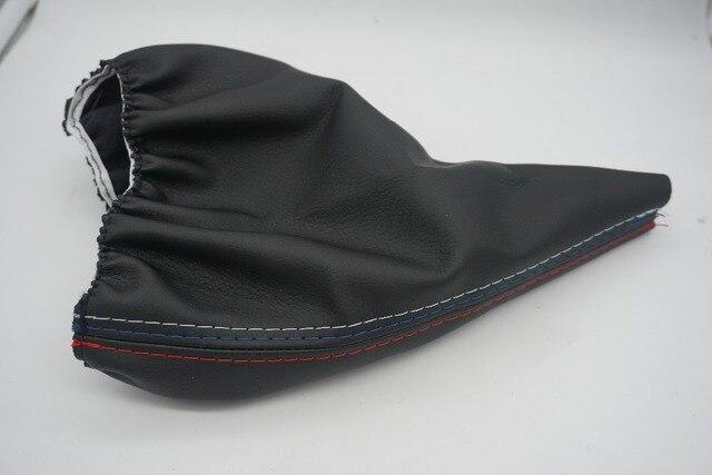 free ship Car Shift Gear Stick Manual Handbrake Gaiter Shift Boot Black Leather Boot For BMW 3 Series E36 E46 e39 M3 Car Styling