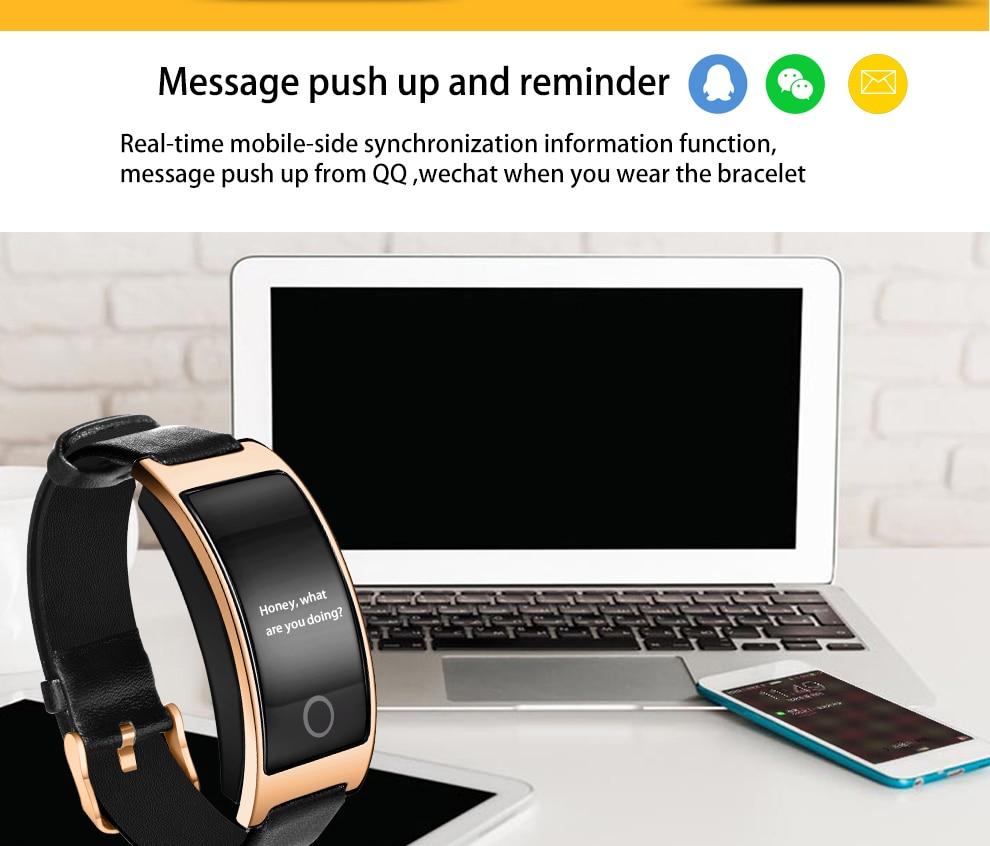 CK11S Wristband Blood Pressure Watch Blood Oxygen Heart Rate Monitor Pedometer IP67 Waterproof marigold 13