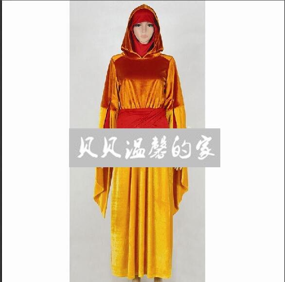 CosplayArt Star War font b Cosplay b font The Phantom Menace Queen Amidala Costume Orange Dress