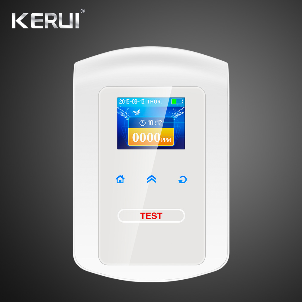 2017  Kerui Gas Detector Home Kitchen Security Combustible LPG LNG Coal Natural Gas Leak Alarm Clock Sensor With Voice Warning 12v combustible gas leak lpg natural gas detector propane alarm for rv van boat home alarm system security