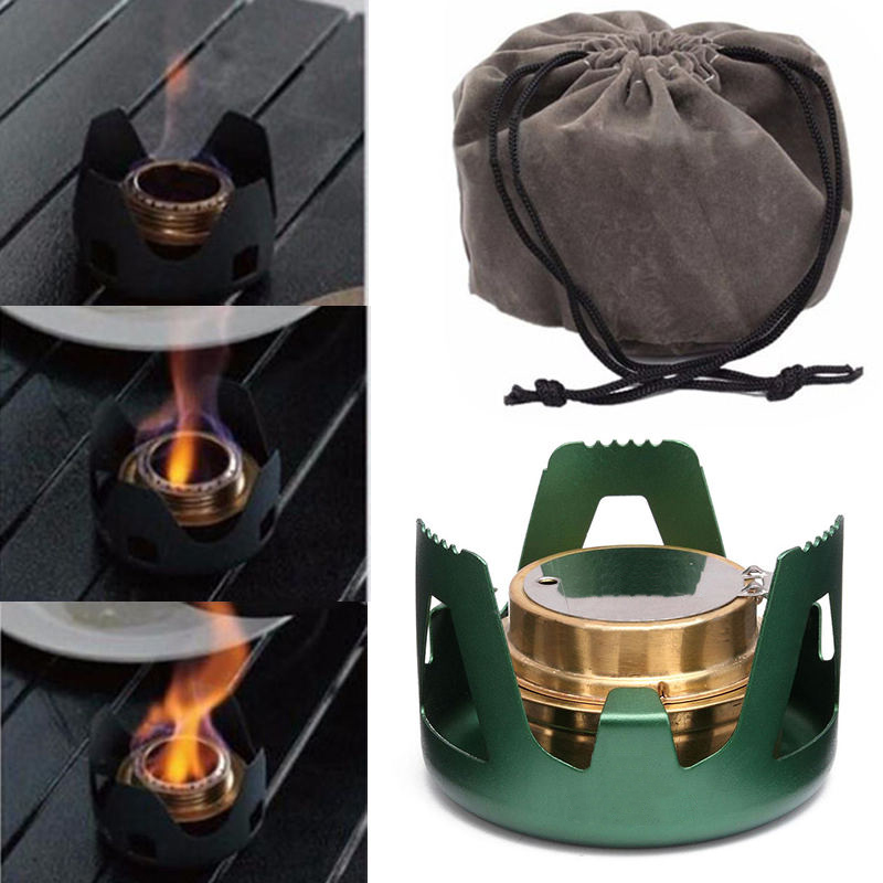 Mini Portable Spirit Burner Alcohol Stove Furnace Outdoor Backpacking Hiking Alcohol Burners For Outdoor Tools