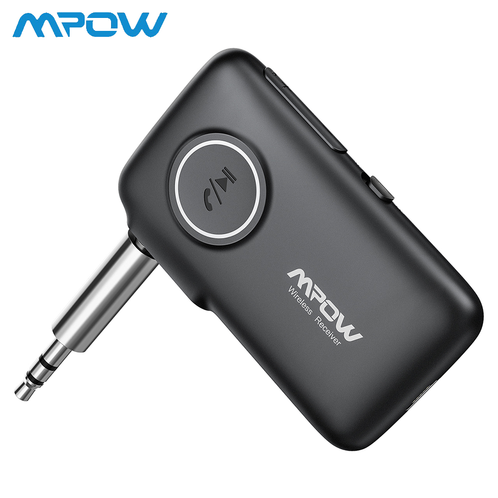 MPOW Bluetooth5.0 Wireless Receiver With CSR Core Audio Adapter With Hand-free Calling Voice Navigation LED Light Car Kit